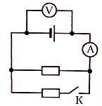 Показания амперметра в приведенной электрической схеме 2 а